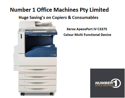 Xerox DocuCentre IV C3375 Copy, Print,Fax,Scan/Network,email,Duplex, A4-A3