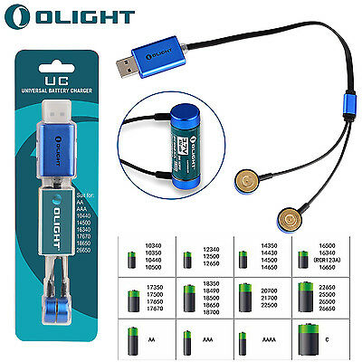 Olight UC Charger Universal Magnetic USB Battery Charger for 14500 16340 etc. UK