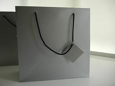 Silver Large Gift Bags for any occasion, in pack of 6