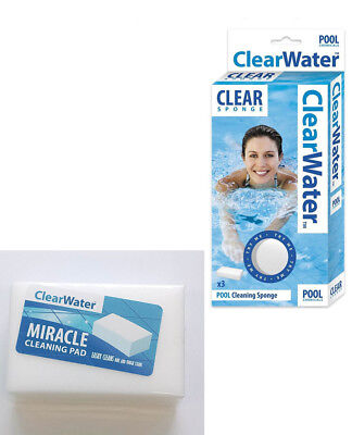 Miracle Cleaning Pad Chemical Free Dirt Stain Remover Pool Spa Home Bath Kitchen