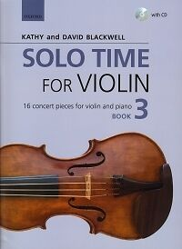 SOLO TIME FOR VIOLIN Blackwell Book 3 + CD