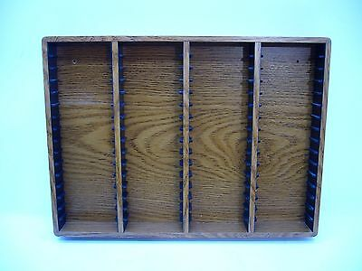 Cassette 64 Storage rack wall Mount or counter wooden storage