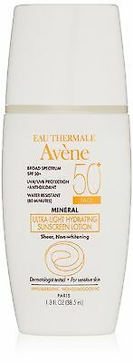 Avene Mineral Ultra-Light Hydrating Sunscreen SPF 50 Plus Face Lotion 1.3 Fl OZ