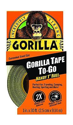 "Gorilla Duct Tape To-Go 1"" x 30 ft Black 1 Pack - NEW FREE SHIPPING"