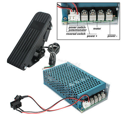 DC 10-50V 100A 5000W Reversible Motor Speed Controller PWM Control Soft Start