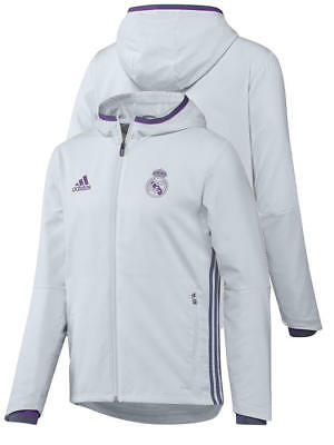 Pres Real Madrid Adidas Presentation Jacket 2016 17 White