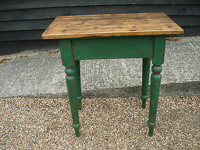 CHARACTERFUL 19th CENTURY PINE SMALL FARMHOUSE STYLE KITCHEN TABLE VICTORIAN
