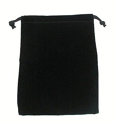 1 X Pack Of 20 Large 7X5inc Pouches Elegant Black Velvet Drawstring Bags