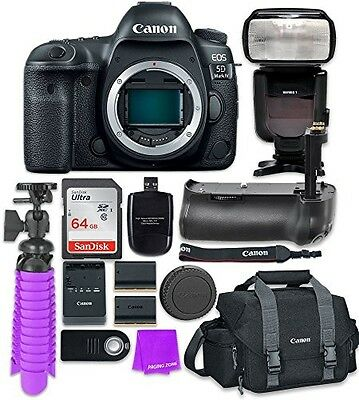 Canon EOS 5D Mark IV Digital SLR Camera (Body) + Accessory Bundle