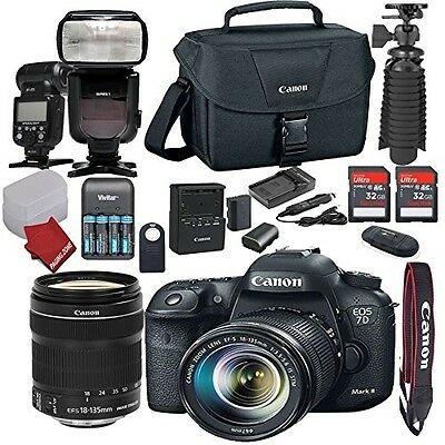 Canon EOS 7D Mark II DSLR Camera Bundle with EF-S 18-135mm f/3.5-5.6 IS STM