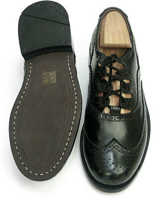 MEN'S LEATHER GHILLIE BROGUES Black Leather VARIOUS SIZES