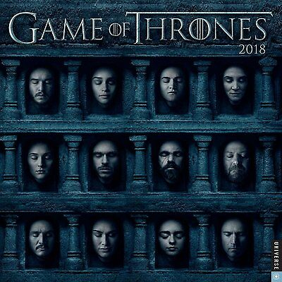 Game Of Thrones - 2018 Wall Calendar - Brand New - Tv Show 333292