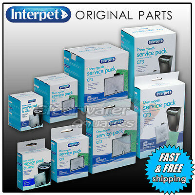 Interpet Internal Cartridge Filter  Media Kit Service Pack Fish Tank Aquarium