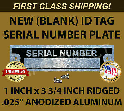 NEW BLANK SERIAL Vin NUMBER PLATE IDENTIFICATION VEHICLE ID