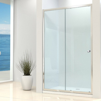 New Sliding Shower Enclosure Cubicle Safety Glass Screen Door Stone Tray Waste