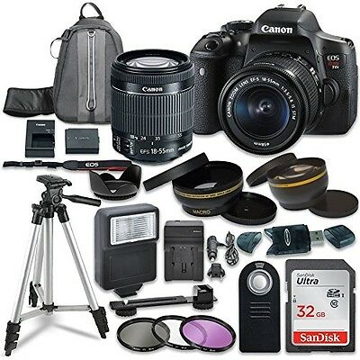Canon EOS Rebel T6i Digital SLR Camera with Canon EF-S 18-55mm IS STM Lens