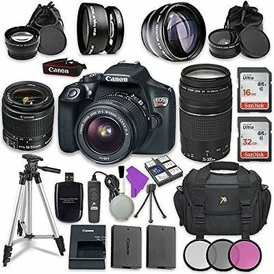 Canon EOS Rebel T6 DSLR Camera with Canon EF-S 18-55mm f/3.5-5.6 IS II Lens