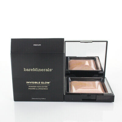 BareMinerals Invisible Glow Powder Highlighter Medium  0.24oz/7g NEW IN BOX
