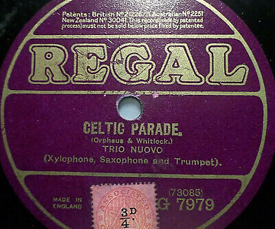 "TRIO NUOVO ""Happy Return / Celtic Parade"" Regal 78rpm 10"""