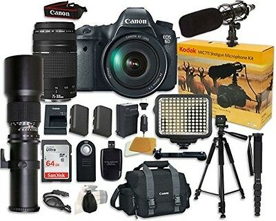 Canon EOS 6D Digital SLR Camera Bundle with EF 24-105mm f/4 L IS USM Lens
