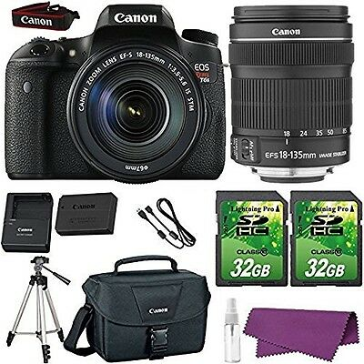 Canon EOS Rebel T6s DSLR Camera with Canon EF-S 18-135mm f/3.5-5.6 IS STM Lens