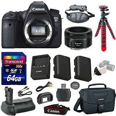 Canon EOS 6D 20.2 MP CMOS Digital SLR Camera Bundle with Canon EF 50mm f/1.8 STM