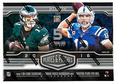 2016 Panini Plates and Patches Football NFL Factory Sealed Hobby Exclusive Box