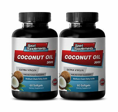 Coconut Oil Caps - Coconut Oil 3000 -  Appetite Suppressants - Ultimate Pills 2B