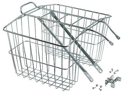 Wald 520 Rear Twin Bicycle Carrier Basket Rack Deep Safe Durable Wired New