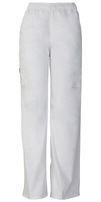 Scrubs Dickies Men's Tall Zip Fly Pull-On Pant 81006T WHWZ White Free Shipping