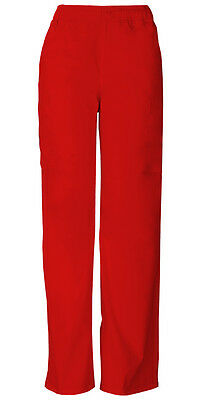 Scrubs Dickies Men's Zip Fly Pull-On Pant 81006 REWZ Red Free Shipping