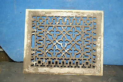 """Cast Iron Floor Wall Vent Grate Cover Register Antique Victorian Floral 12x10"""""""