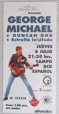George Michael + Duncan Dhu : Ticket Original !!!!!!! Barcelona 1989 !!!! Spain