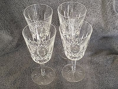 "Set Of 4 Waterford Crystal  Lismore 6-7/8"" Water Goblets"
