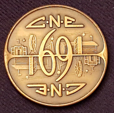 1969 - Canadian National Exhibition - Cne- Token / Coin - Original