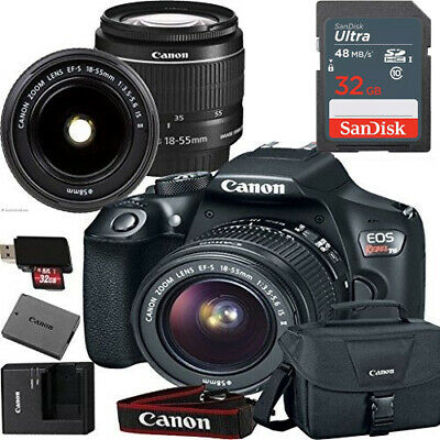 Canon EOS Rebel T6 Digital SLR Camera with EF-S 18-55mm IS II Kit Accessory Kit