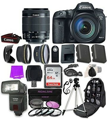 Canon EOS 7D Mark II Digital SLR Camera with EF-S 18-55mm f/3.5-5.6 IS STM Zoom