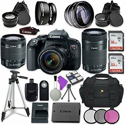 Canon EOS Rebel T7i Digital SLR Camera with Canon EF-S 18-55mm IS STM Lens