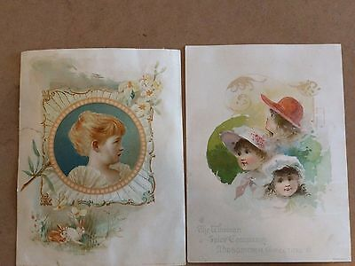 #ORIGINAL 1800's VICTORIAN Trade Card Lot of 2 LION Coffee Ad 5 x 7""