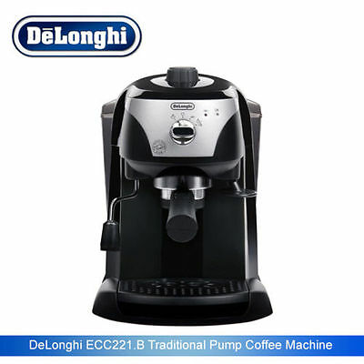 Delonghi ECC221.B 15 Bar Pump Espresso Coffee Machine - Black