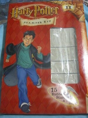 Brand New 15 Rubber Stamp Kit W Ink Etc., From Harry Potter:chamber Of Secrets