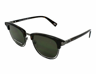 NEW Marc Jacobs MJ171 S 086QT 50mm Dark Havana Ruthenium   Green Sunglasses 439735bfecdf