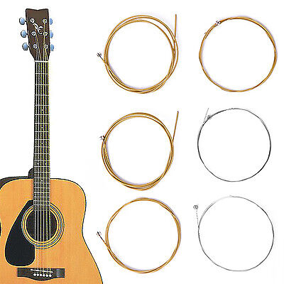 Hup NEW Set of 6 Bronze Steel Strings For Acoustic Guitar 150XL/.010in