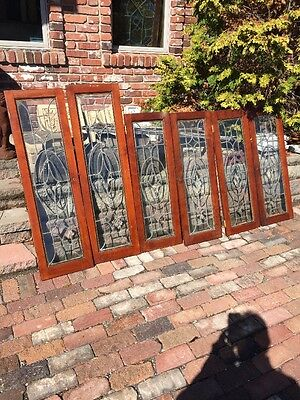 Sg 1211 6 Matching Antique Beveled Glass Cabinet Doors Two Sizes