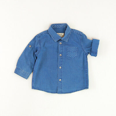 Camisa vaquera color Denim oscuro marca Mayoral 3 Meses
