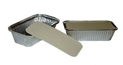 LARGE ALUMINIUM FOIL FOOD GRADE TAKEAWAY FOOD STORAGE CONTAINERS + LIDS No6a
