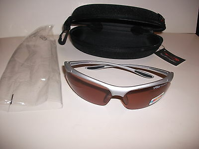 NEW WITH TAG TF GEAR Polarized Glasses BULLET SANDSTONE LENS With CASE Fishing