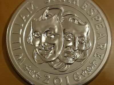 The Shakespeare 2016 UK £50 Fine Silver Brilliant Uncirculated Coin