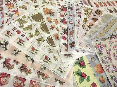 TBZ Pack of 50 Assorted Vellum  Decoupage Sheets