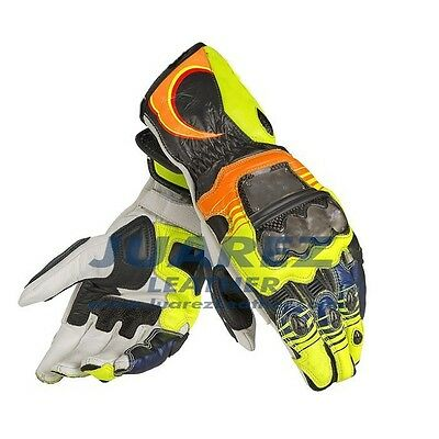 Motorbike Motorcycle Motogp 2013 Rossi Leather Gloves